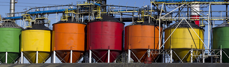 Brightly colored fuel tanks
